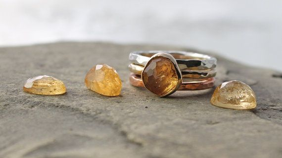 Кольцо из желтого серебра