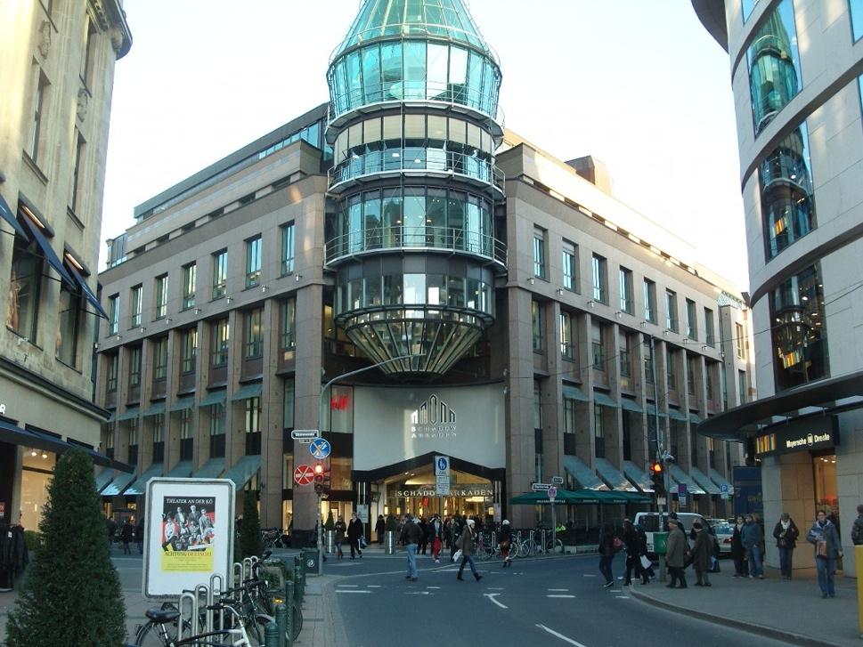 улица моллов в Дюссельдорфе