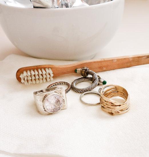 почистить золото с бриллиантами в домашних