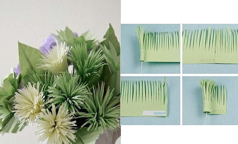 нарезание соломкой бумаги
