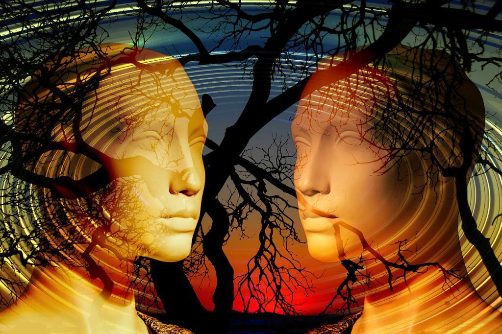 изображения людей и деревьев