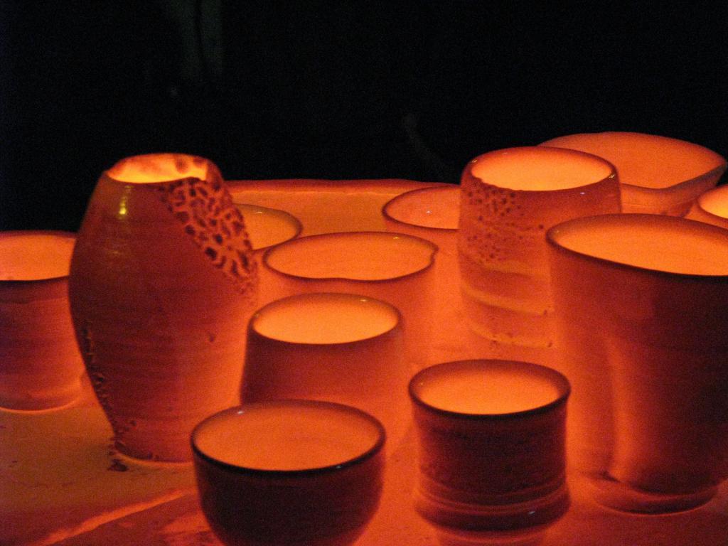 обжиг керамических изделий в печи