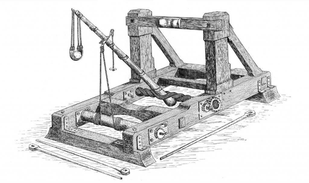 Реконструкция онагра с пращой