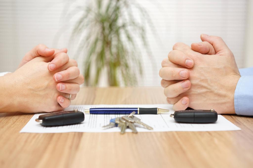 Соглашение при разводе