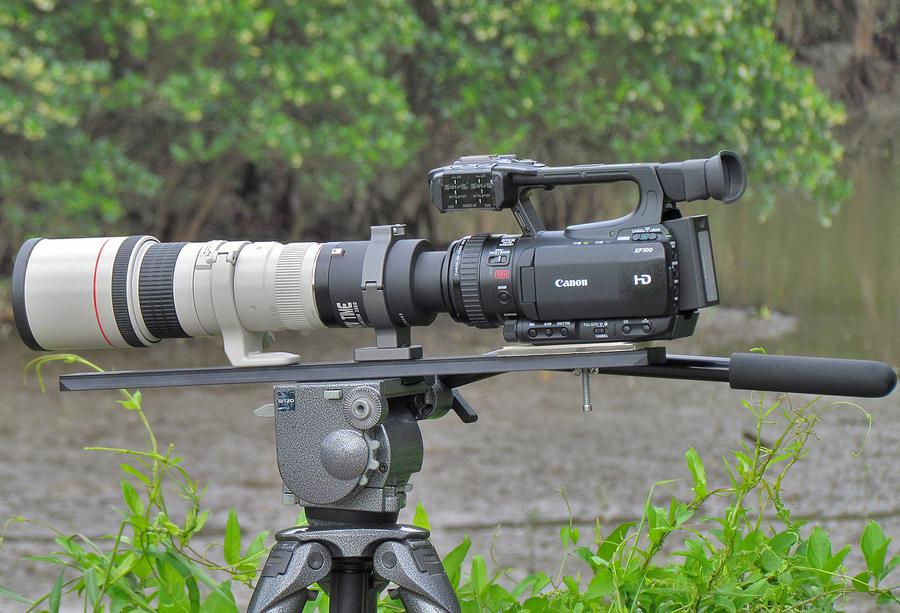 Canon XF100 с 400-мм объективом