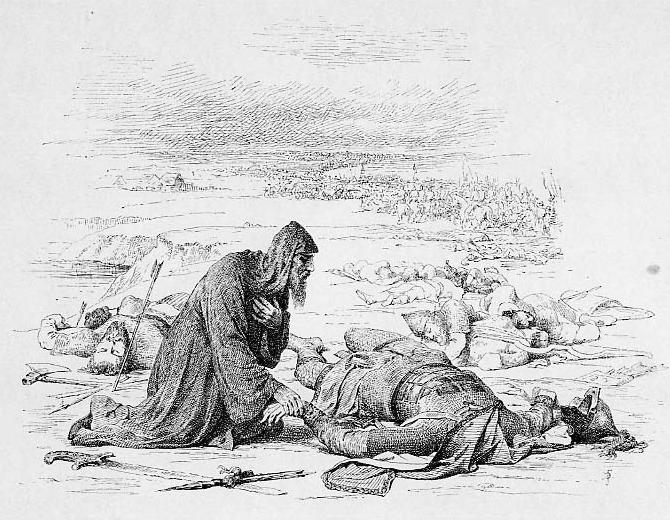 Епископ Ростовский возле тела князя Юрия