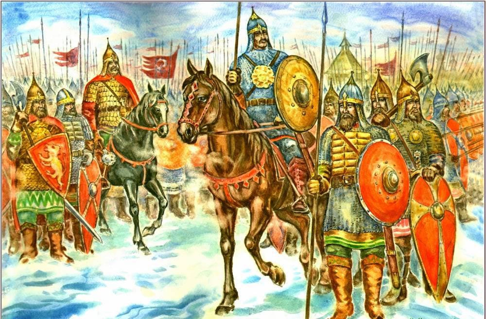 Ситская битва 1238 года на картине