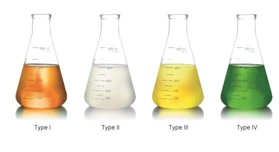 Типы антиоблединительных жидкостей