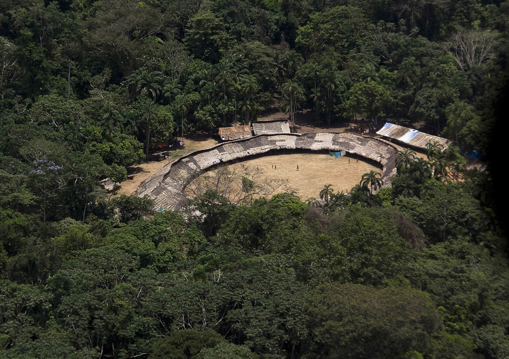 Деревня индейцев в Венесуэле