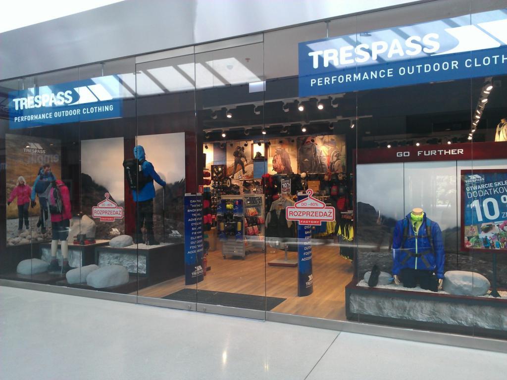 Магазин Trespass на заводе Анополь