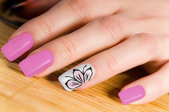рисовать цветы на ногтях гель лаком