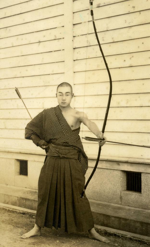 Самурай перед стрельбой