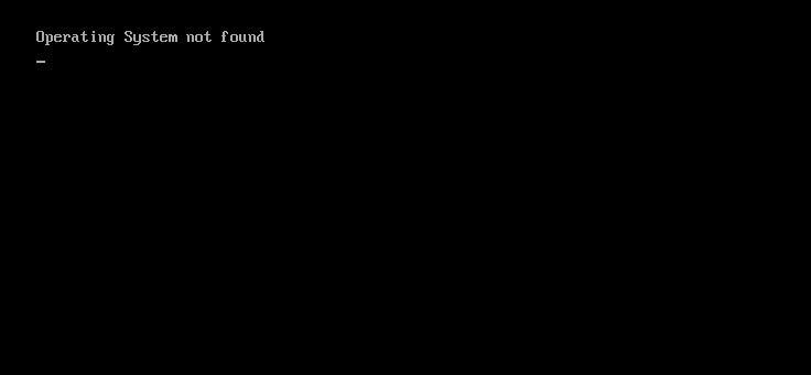 Операционная система при загрузке не найдена