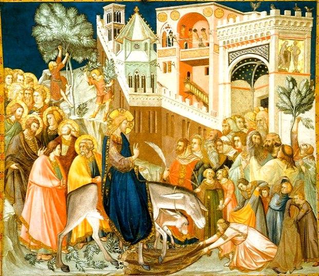 Иисус на осле входит в Иерусалим