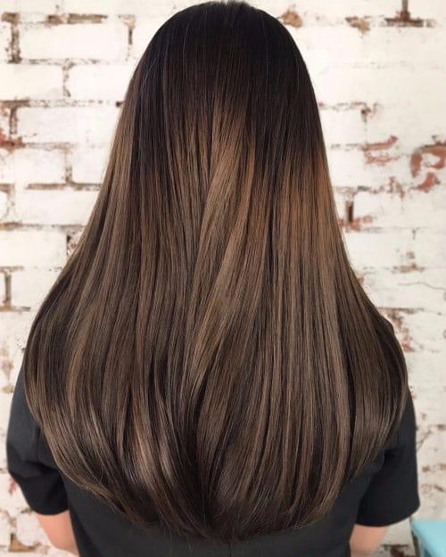 Классическое мелирование на темные волосы