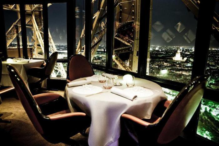 ресторан с видом на париж