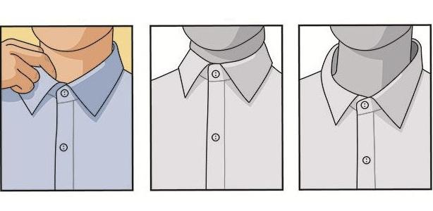Как должен сидеть воротник рубашки?