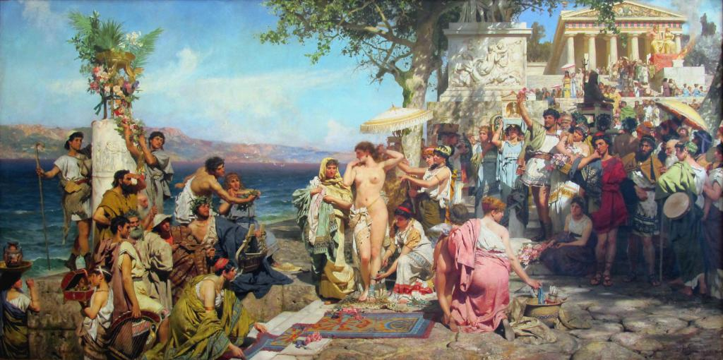 Фрина на празднике Посейдона