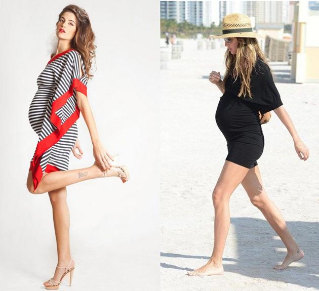 Модные луки беременных