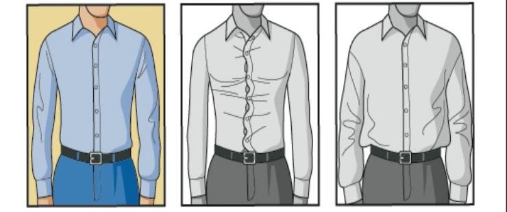 Как должна сидеть рубашка на торсе?