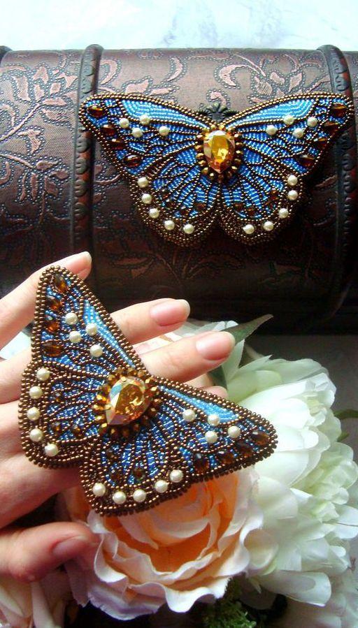 броши бабочки