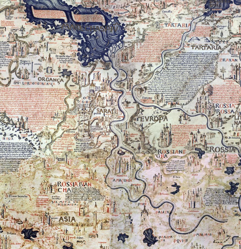 древняя карта реки Волги