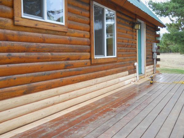 Обновление венцов деревянного дома