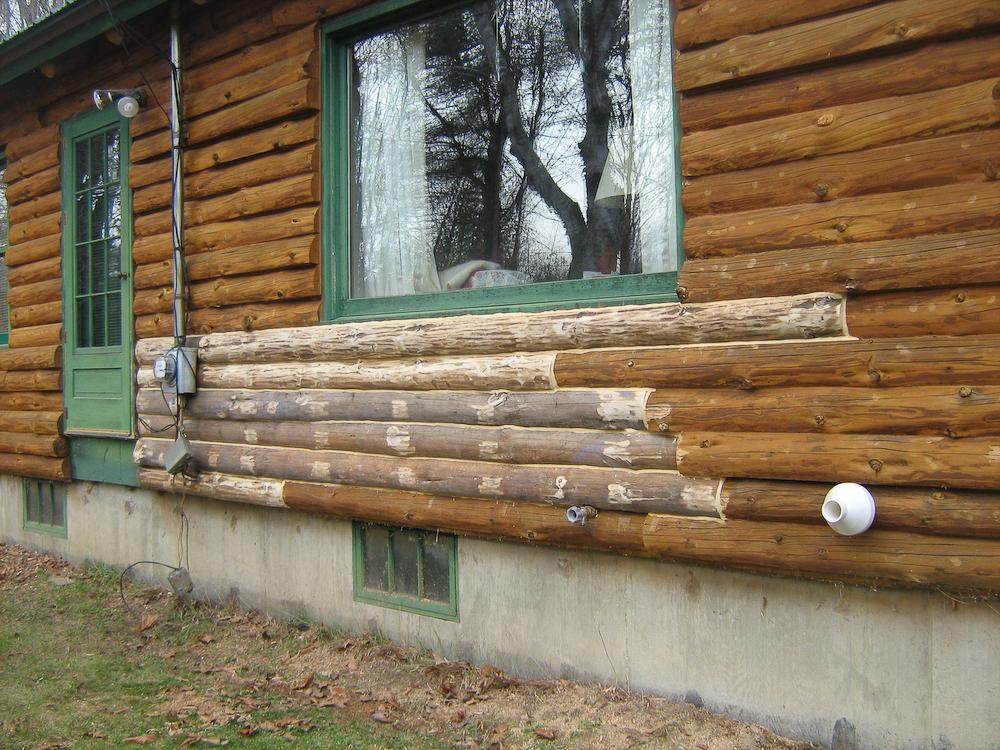 Замена сегментов венцов в деревянном доме