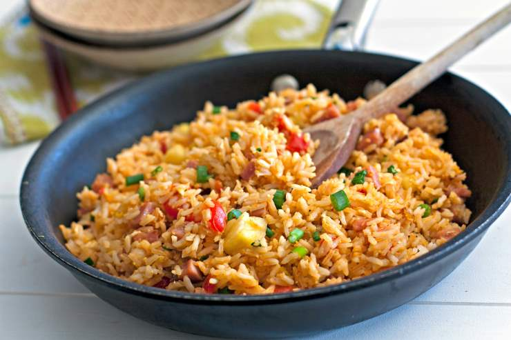 рис припущенный с овощами