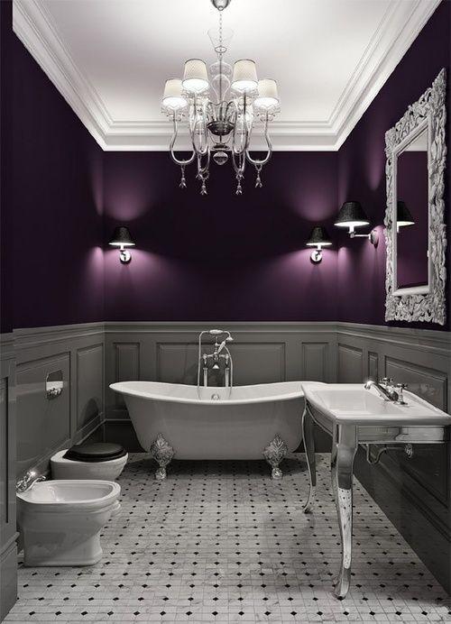 комната в фиолетовых цветах