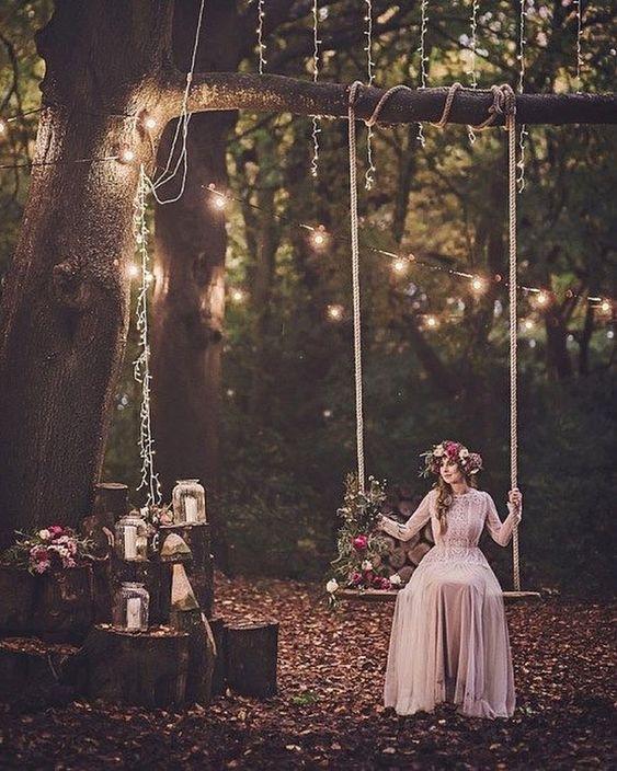 свадьба фотосессия в лесу