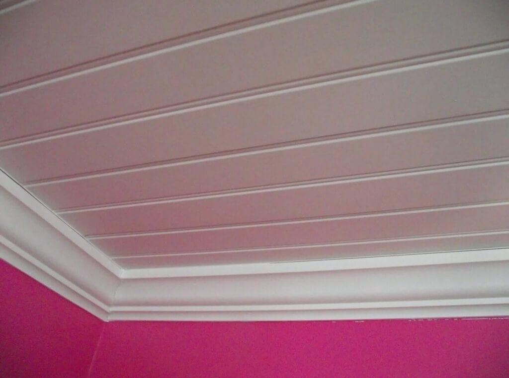монтаж мдф на потолок