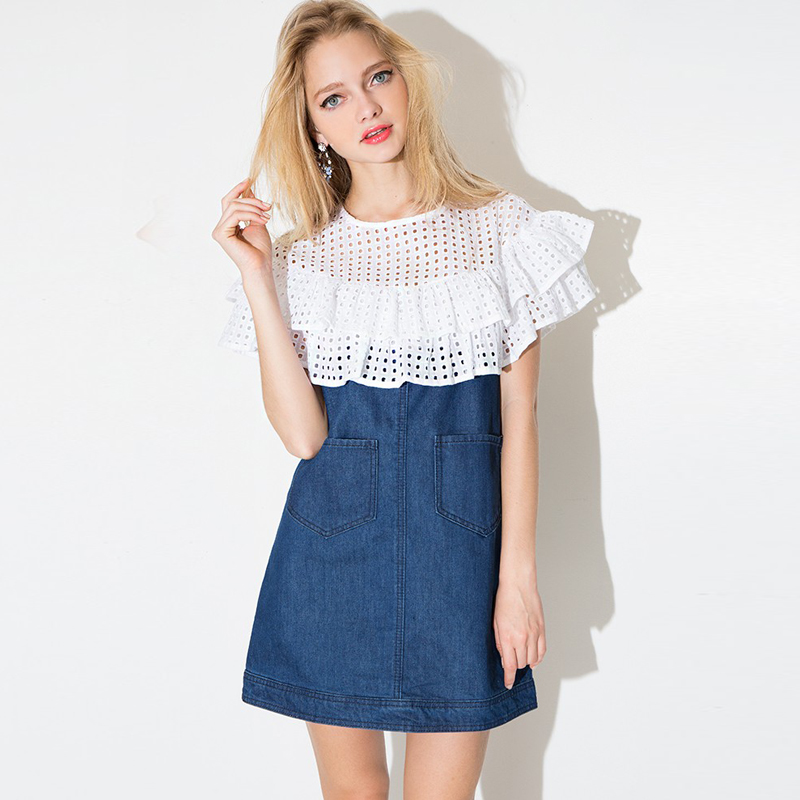удлиненные джинсовые платья