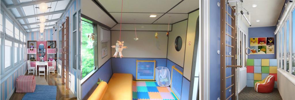 Детские комнаты на лоджии