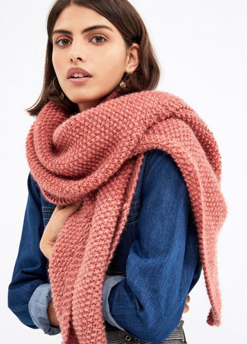 шарф американской резинкой