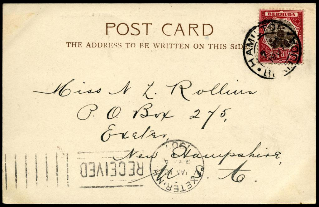 Почерк на открытке