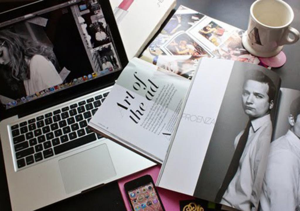 Рабочий стол фэшн-блогера