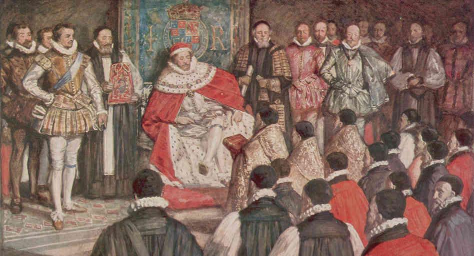 Вручение перевода королю