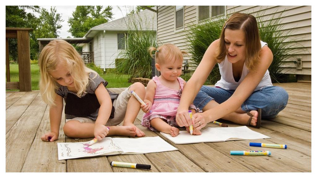 родители общаются с детьми