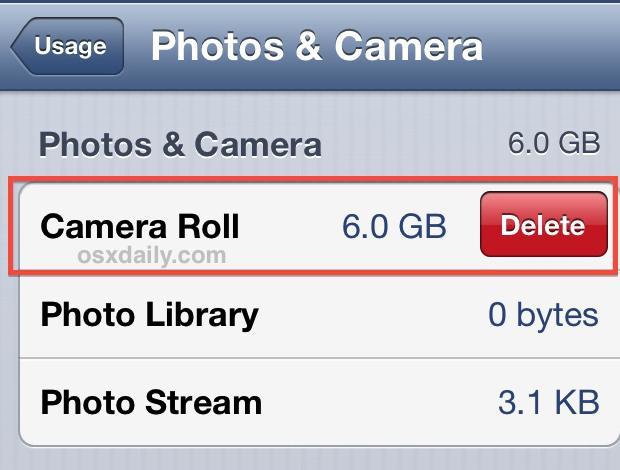 как удалить фото с айфона