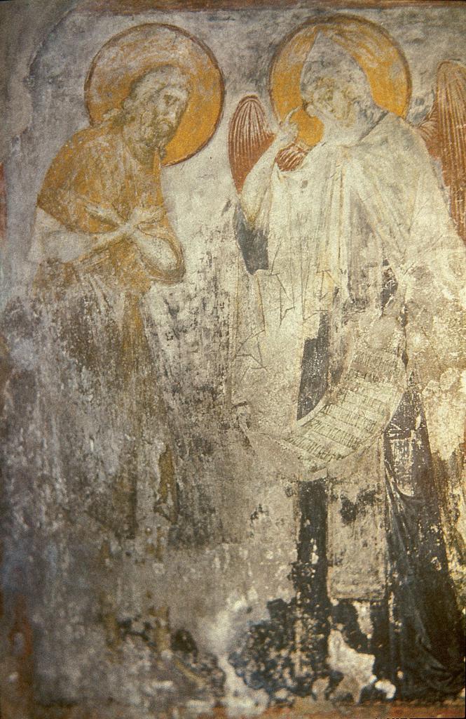 Ангел вручает преподобному Пахомию монашеский устав