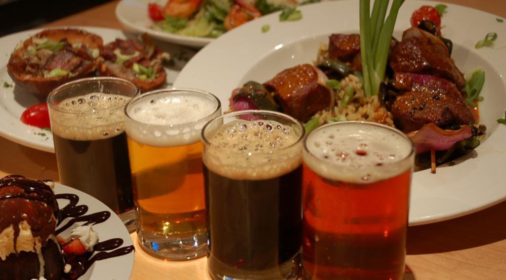 Еда под пивом