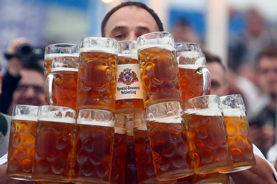 Соревнования на празднике пива
