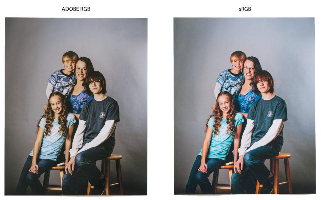 Adobe RGB и sRGB