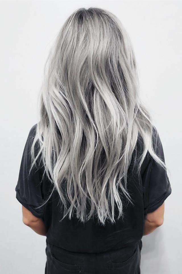 серые волосы