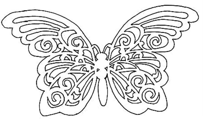 как вырезать бабочку ажурную