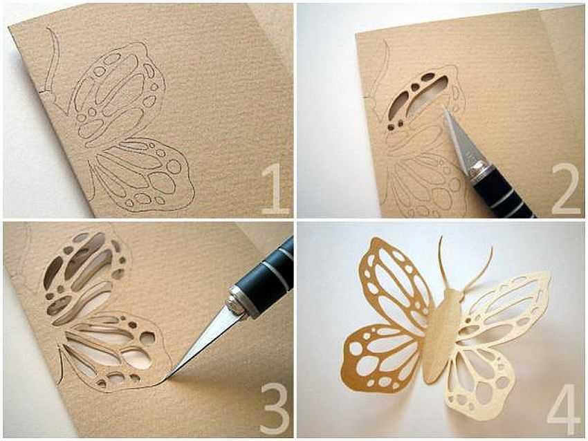 как вырезать бабочку кружевную