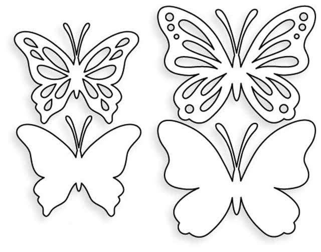 как вырезать бабочку шаблон
