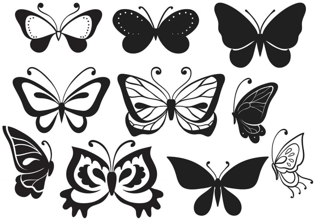 как вырезать бабочку идеи