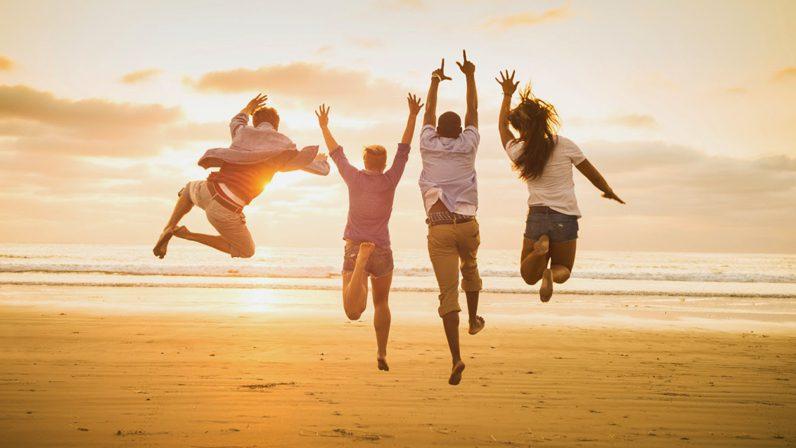 счастливые друзья